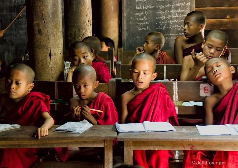 Young Monks at Monastery School, Inwa, Mandalay
