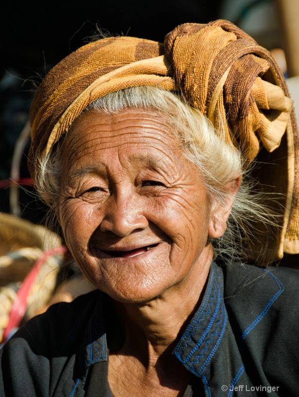 Grandma, Inthein Market, Inle Lake, Myanmar