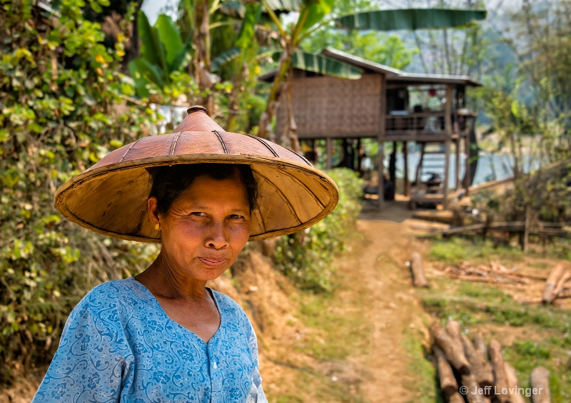 By Her House, Hsipaw, Myanmar