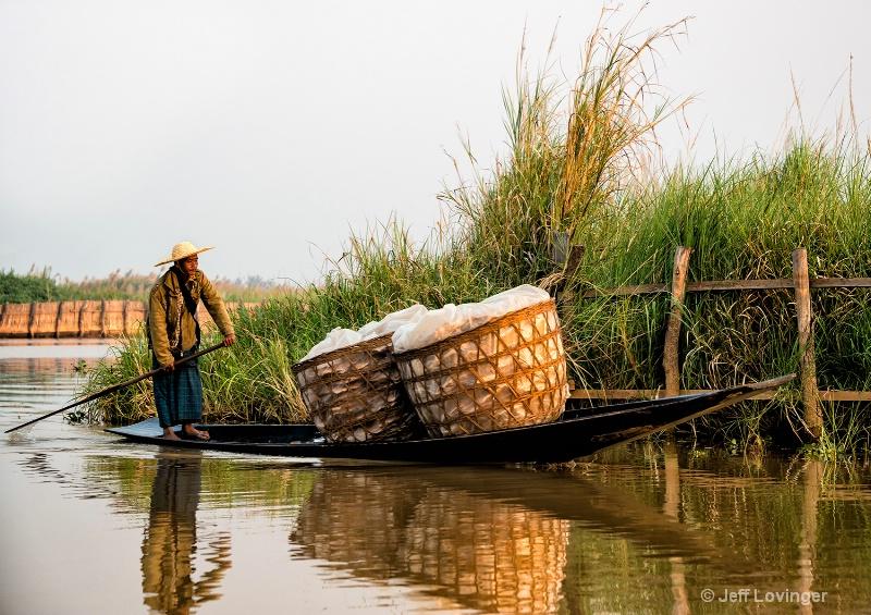 Bringing Goods to the Market, Inle Lake, Myanmar