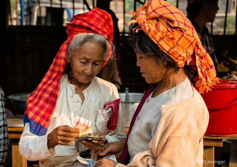 Market Transactions, Inthein, Inle Lake, Myanmar
