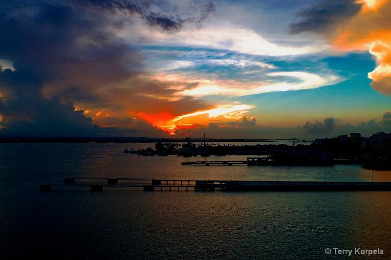 Sunset  San Juan, Puerto Rico