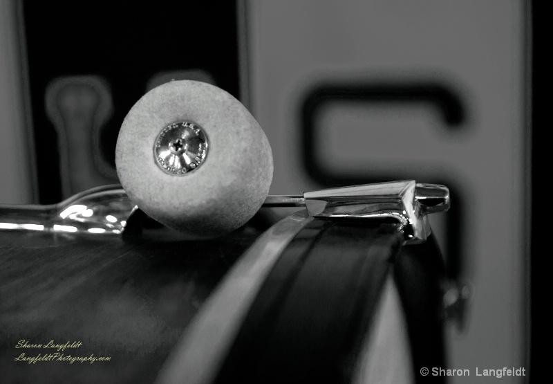 bass drum mallet b w