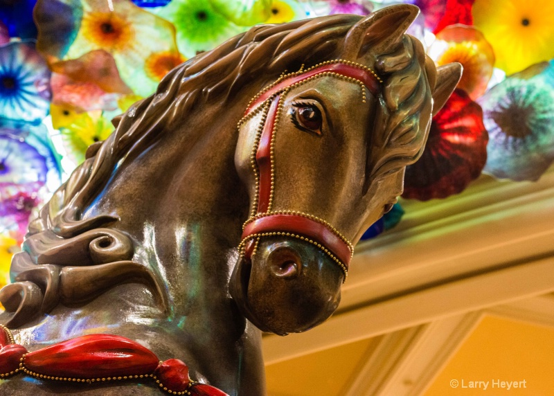 Wood Horse at the Bellagio Hotel
