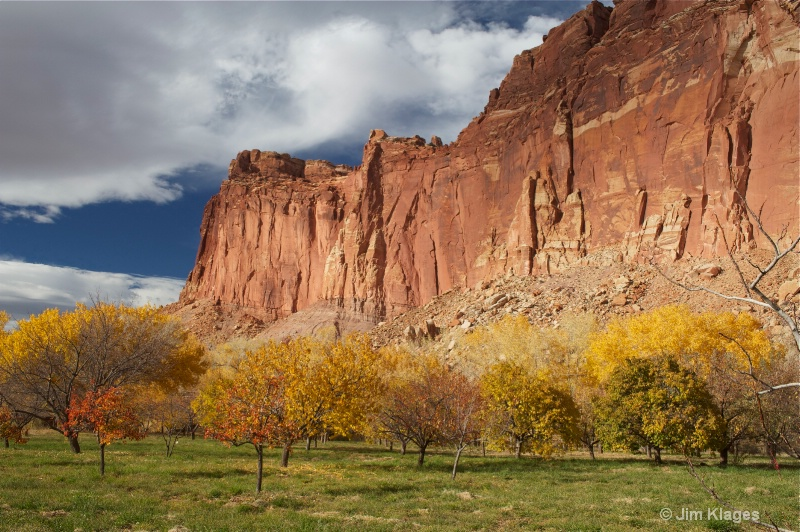 Red Rocks and Orchard