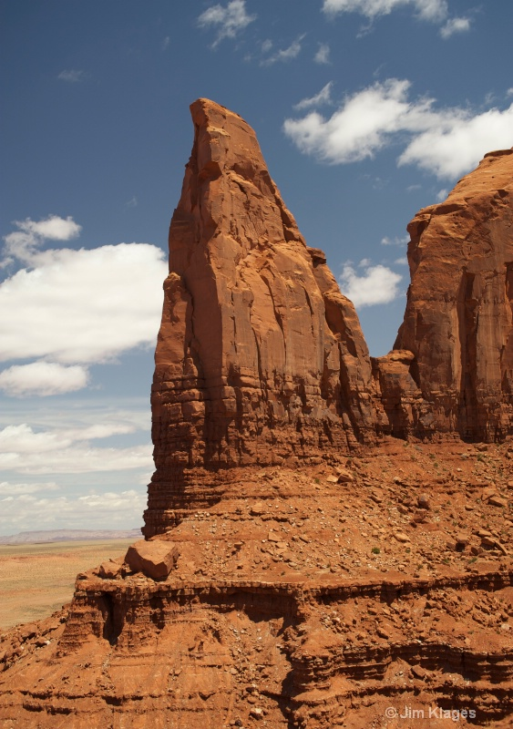 Rock Formation Along Monument Valley Park Road