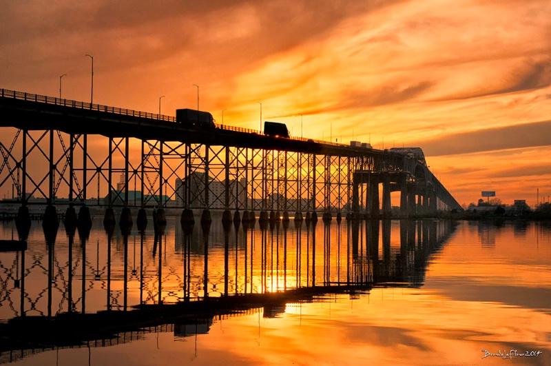 I-10 Sunset Reflection