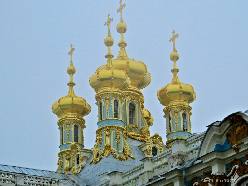 Gold Domes of Chapel of Catherine's Palace