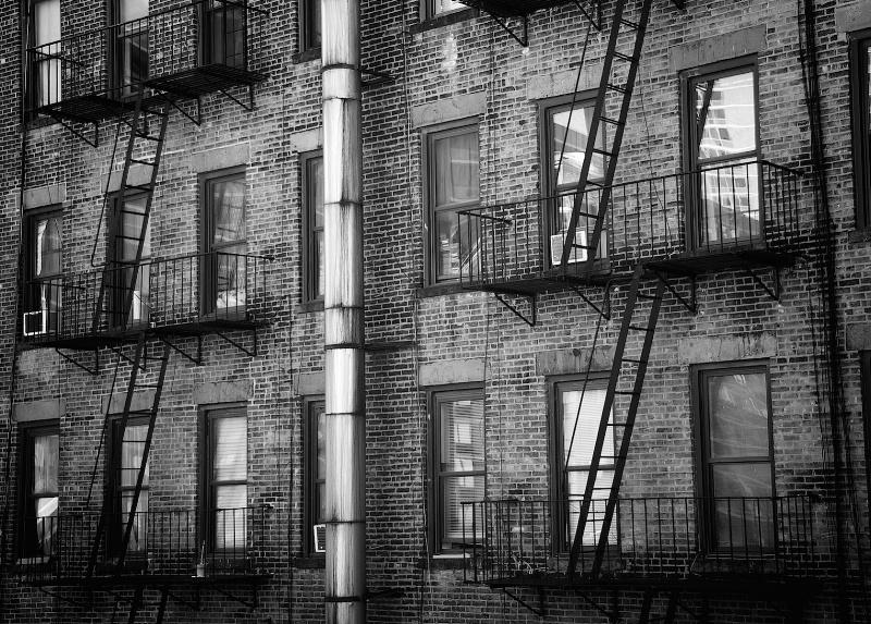 Tenament Staricases in Lower Manhattan