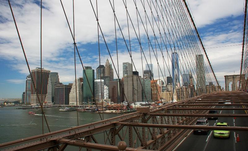 South Manhattan  through Steel Rods
