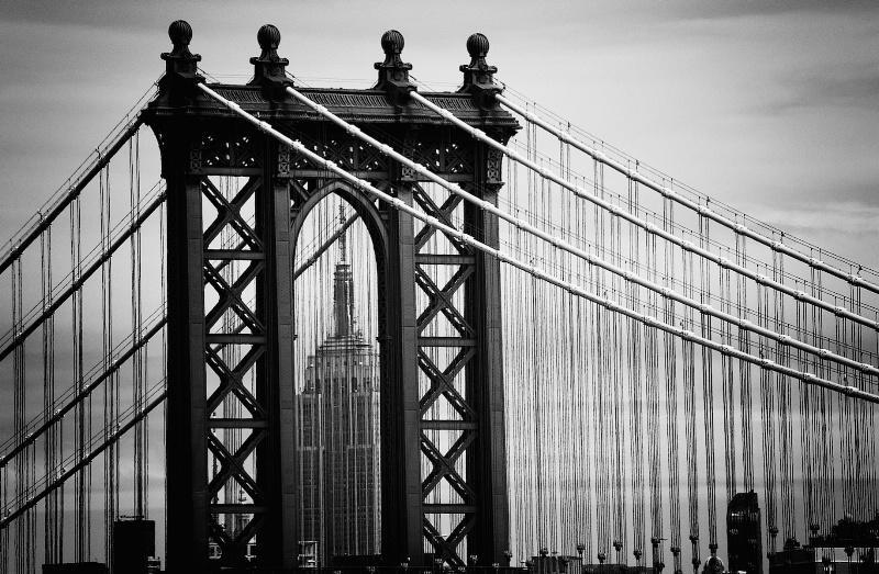 Chrysler Building  Framed by Manhattan Bridge