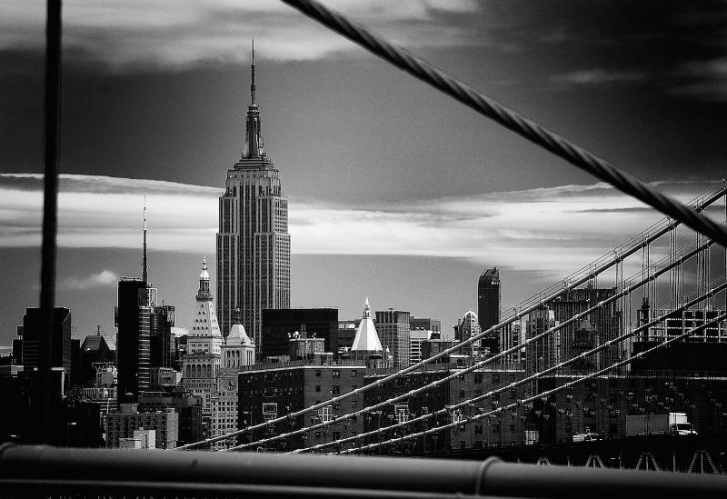The Empire from Brooklyn Bridge