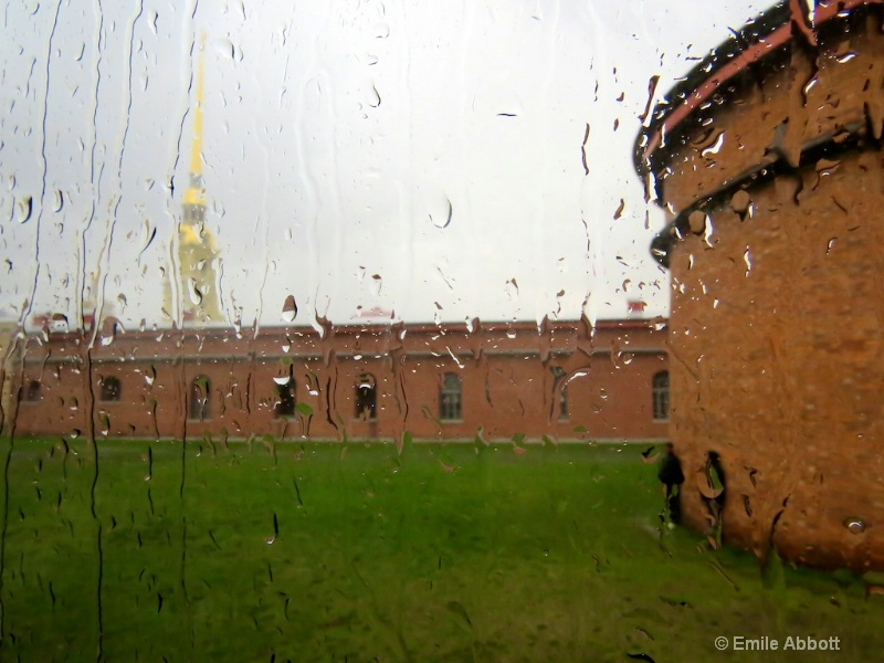 Peter and Paul Fortress in the rain
