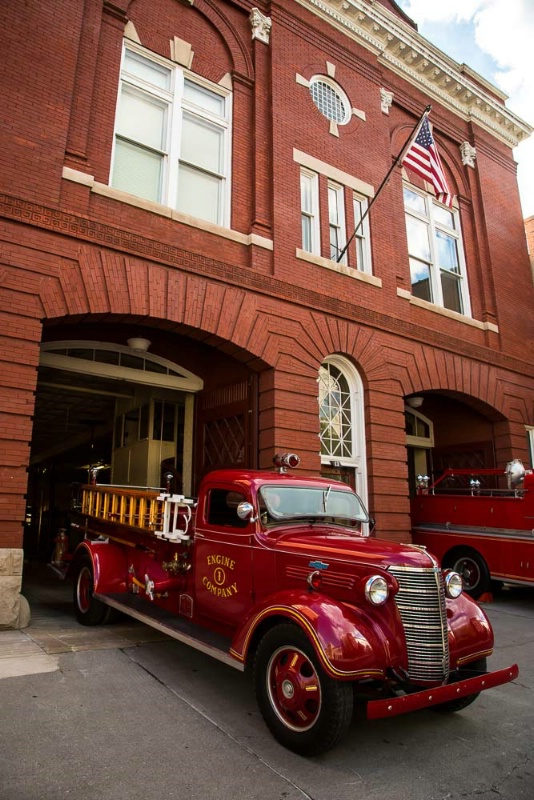 Antique Fire Engine, in Front of Fire House #1