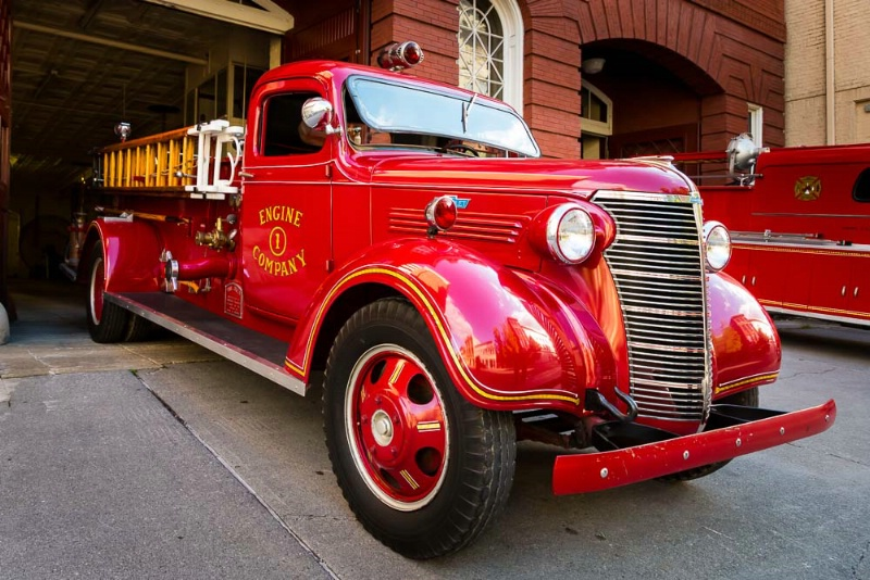 Antique Fire Engine, Engine Co. #1, Side