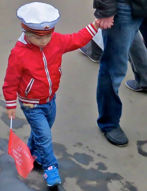 Another youngster dressed for Victory Day
