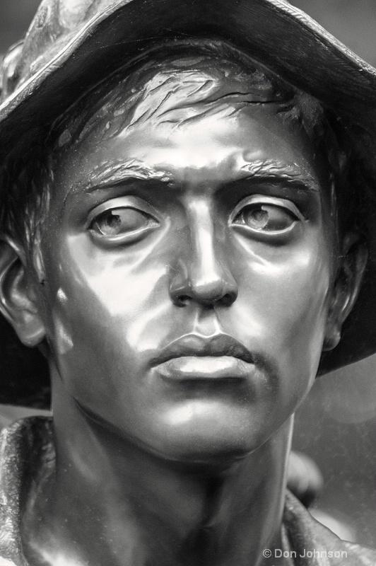 Vietnam War Memorial Soldier Portrait