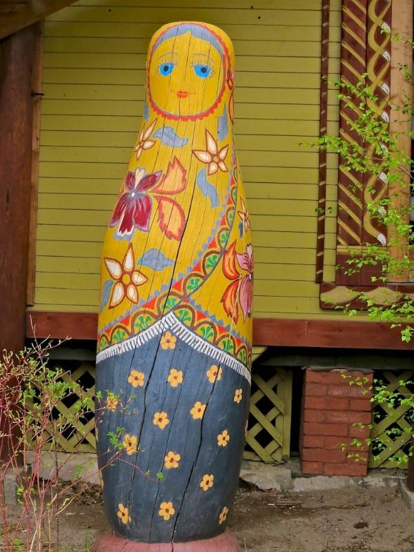 Outside Wooden Matryoshka Doll