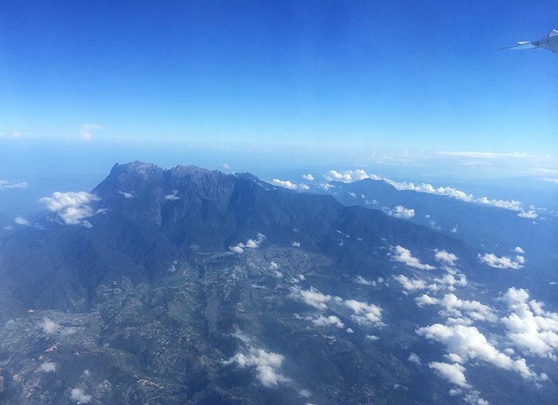 First Glimpse - Mt Kinabalu