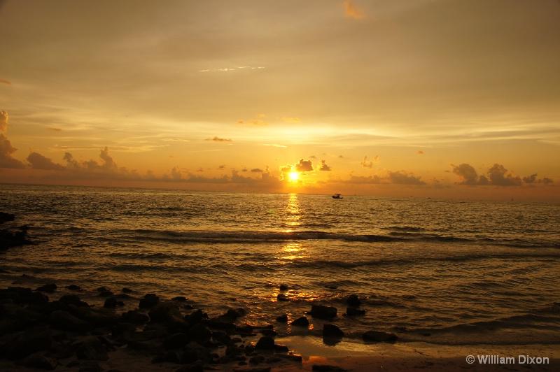 Setting Sun at Pass-A-Grille Beach, FL
