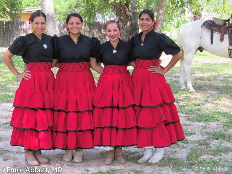 Four riding beauties