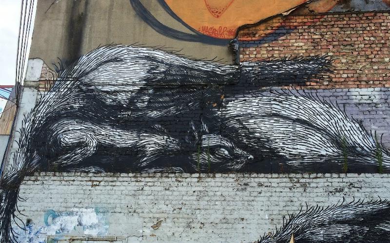 Roa´s Squirrel in Shoreditch