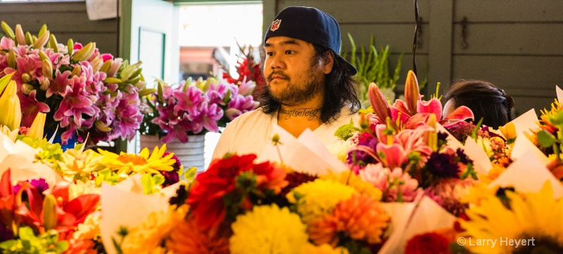 Flower Vendor at Pike Place Market