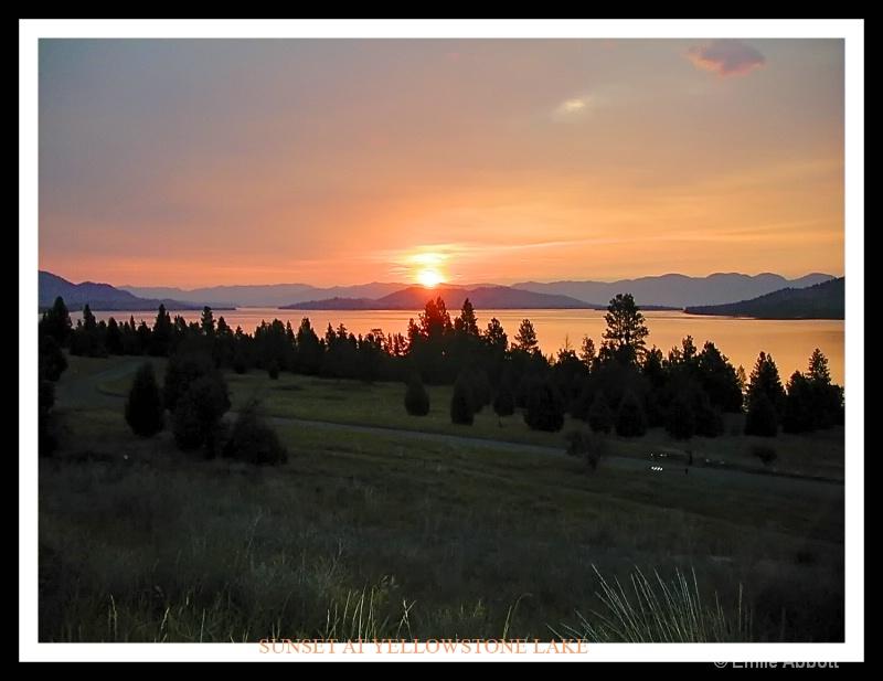Sunset at Yellowstone Lake