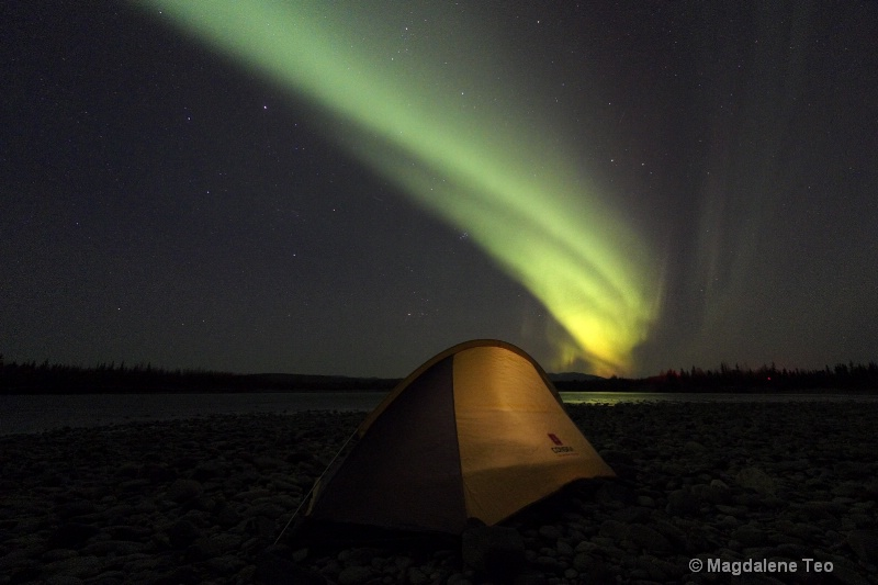 Auroras over Tent