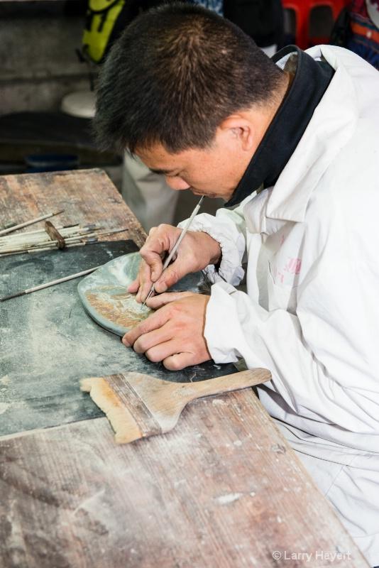 Artisan at Ink Stone Factory