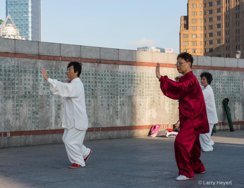Martial Arts on the Bund- Shanghai, China