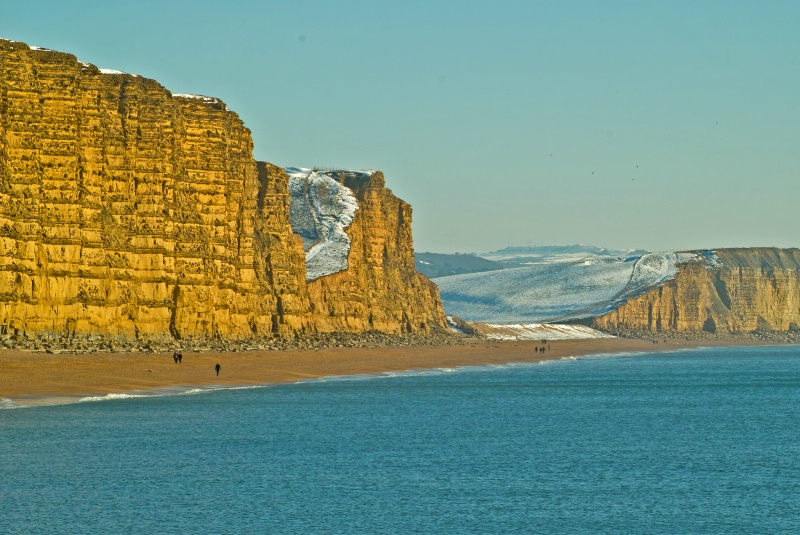 Snowy cliffs