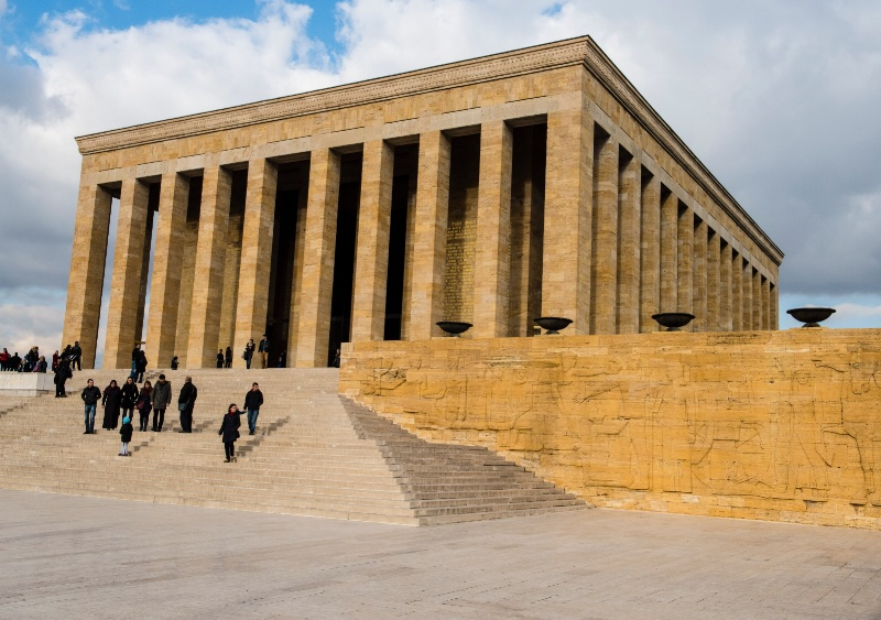 Burial Place of Ataturk in Ankara, Turkey
