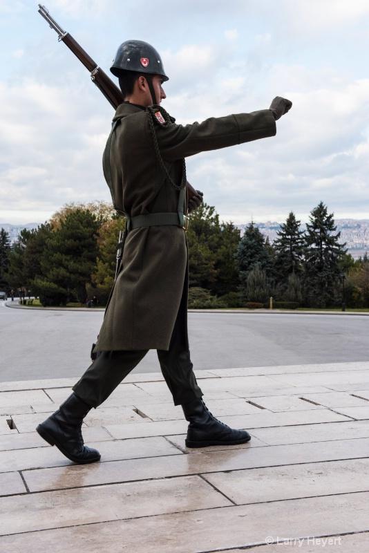 Turkish Soldier Marching in Ankara