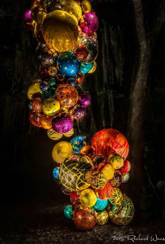 Chihuly Globes at Night