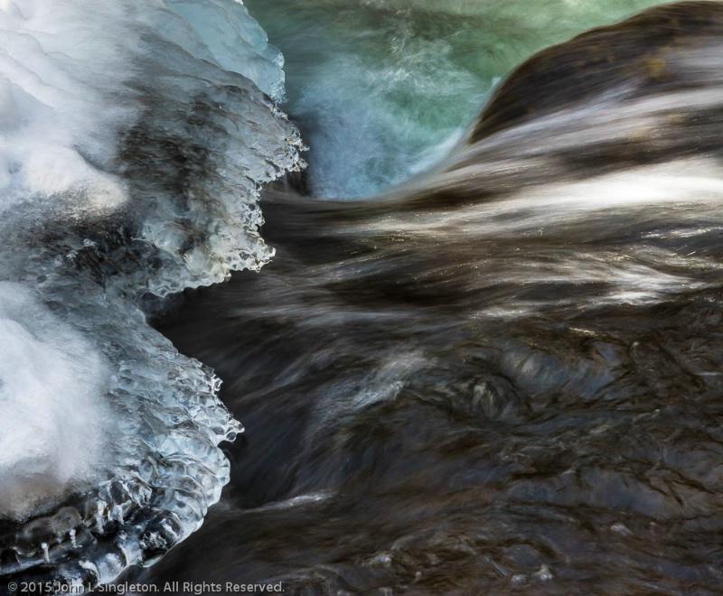 Icy Stream Abstract