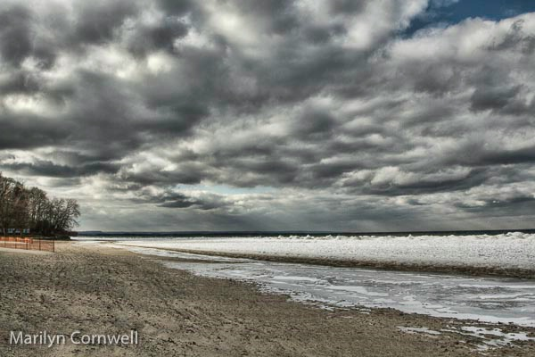 Storm Clouds at Lakeside Beach