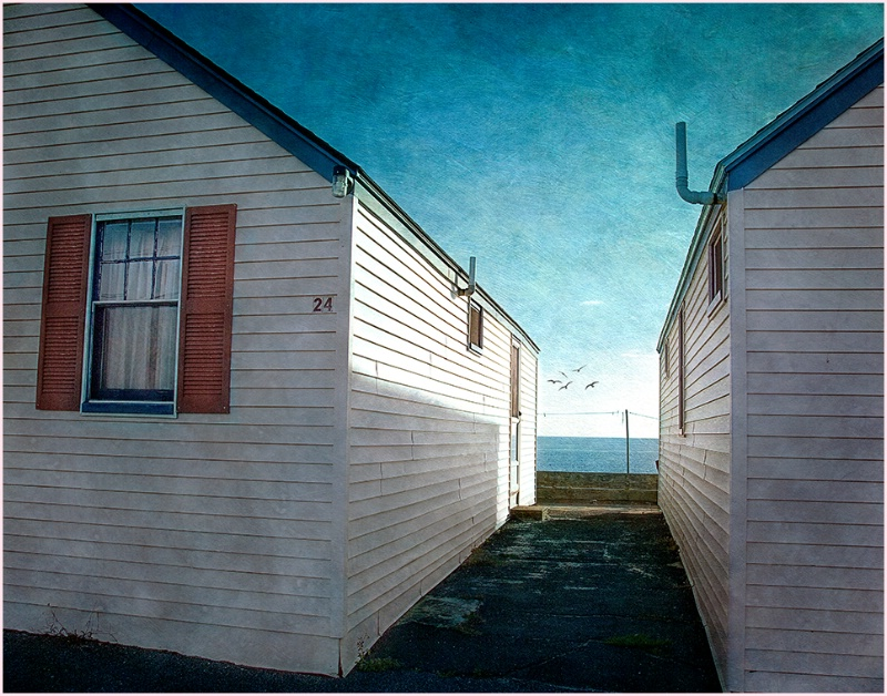 Early morning at Days' Cottages, Truro MA
