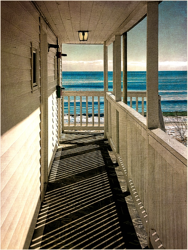 Early morning at Old Orchard Beach, Maine