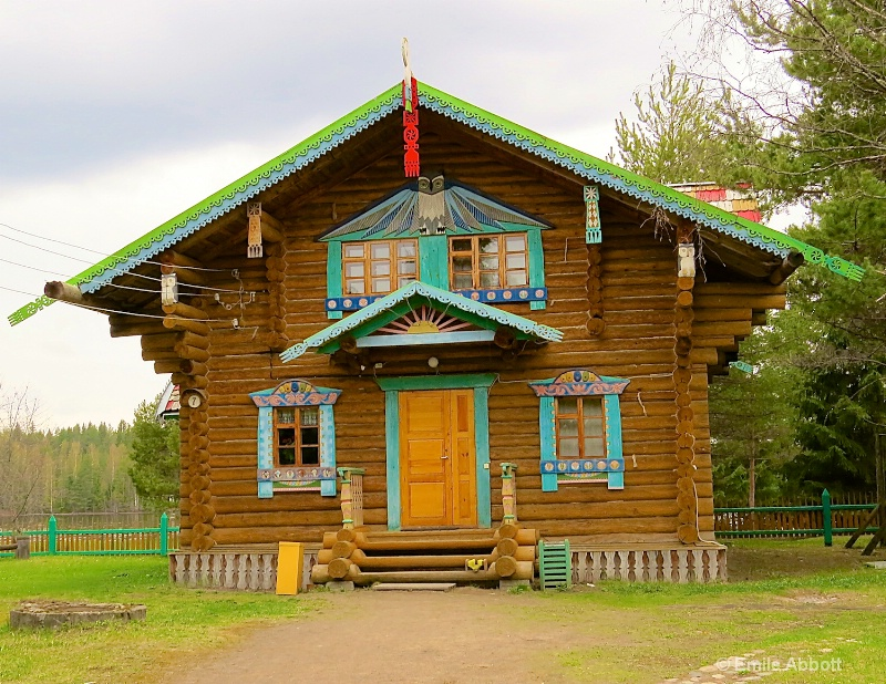 Typical North Russian Log Cabin