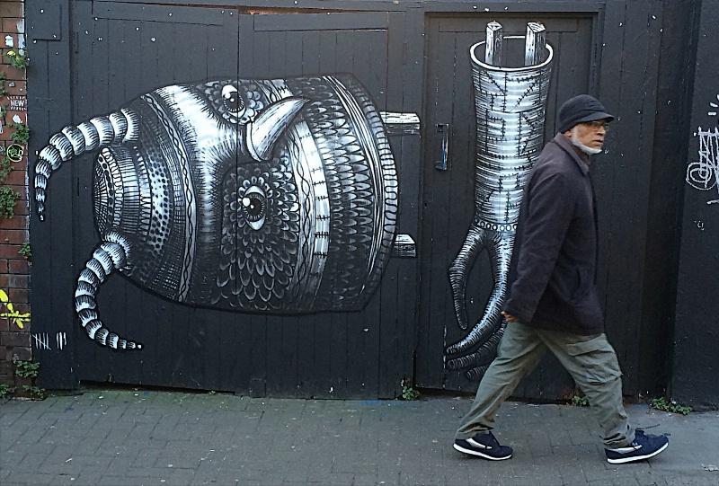 Stroller and Phlegm Graffiti