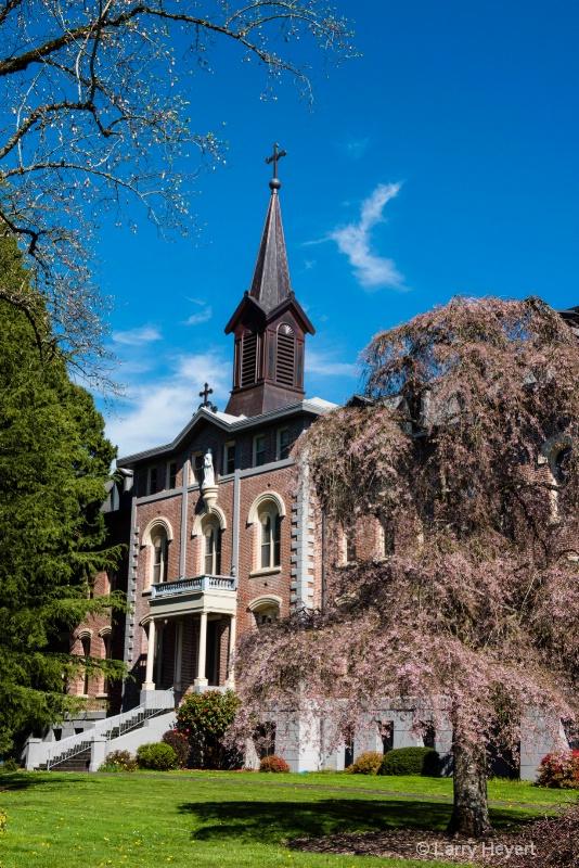 Church in Mt Angel, Oregon