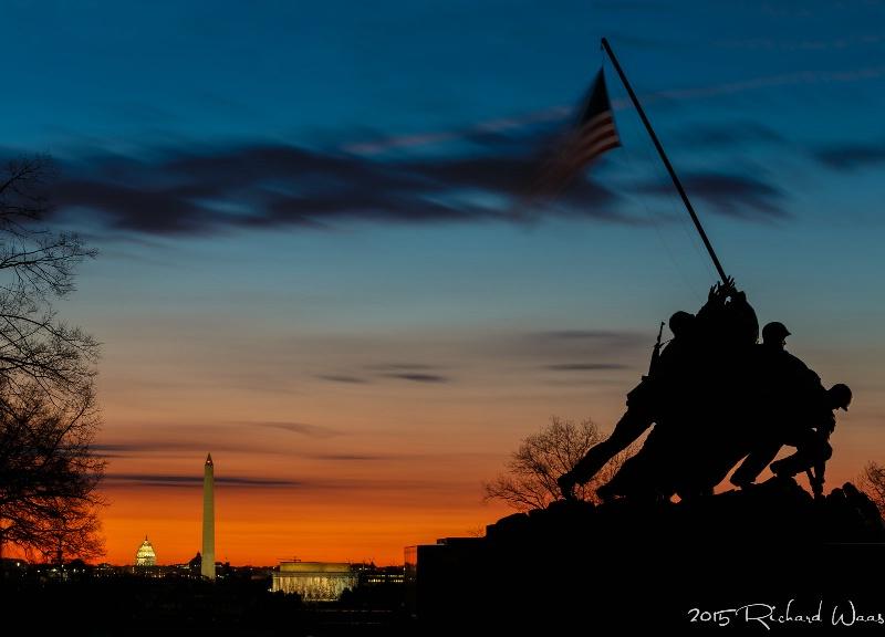 Sunrise over Washington DC