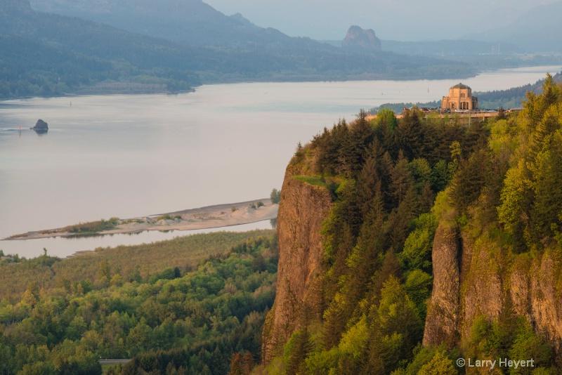 Vista Point above Columbia River Gorge, Oregon