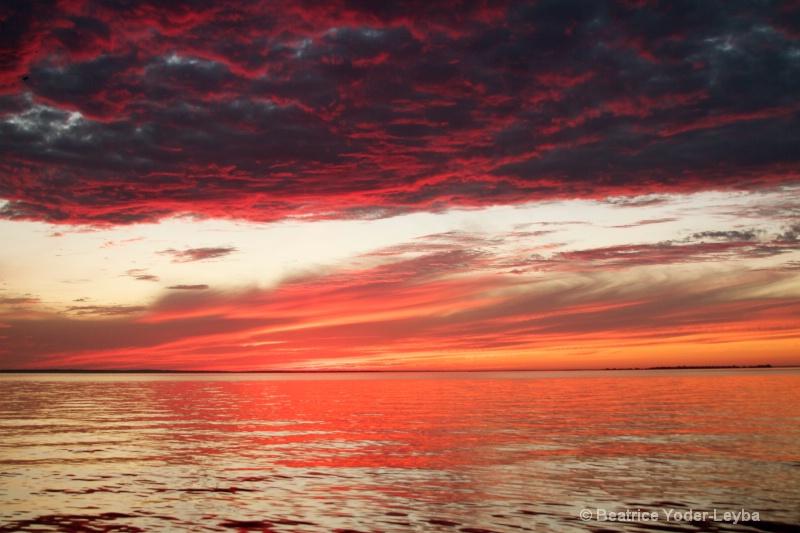 Leech Lake MN beginning Sunset 2011