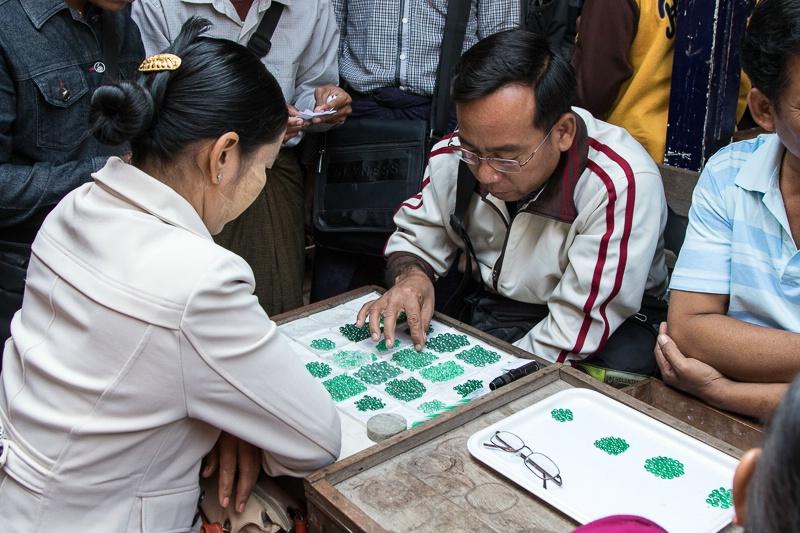 Jade market in Mandalay
