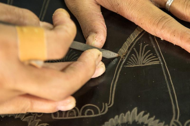 Lacquerware making in Bagan