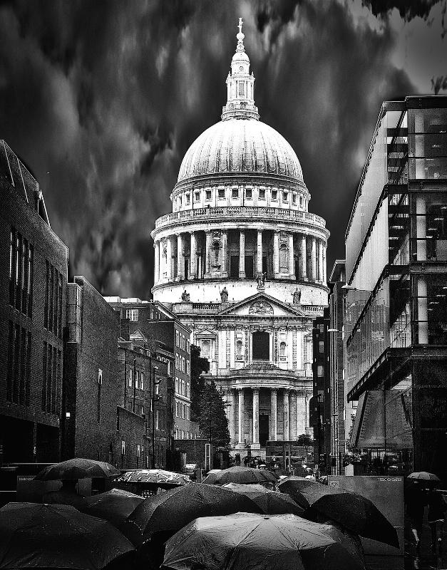 Saint Paul in the Rain Monochrome