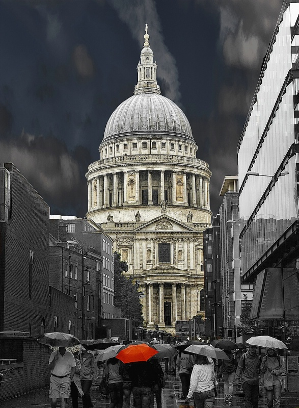 Saint Paul Side Street in the Rain