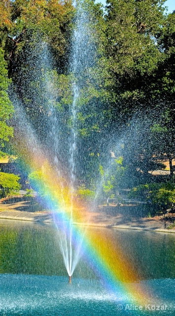 Favorite Fountain with Rainbow